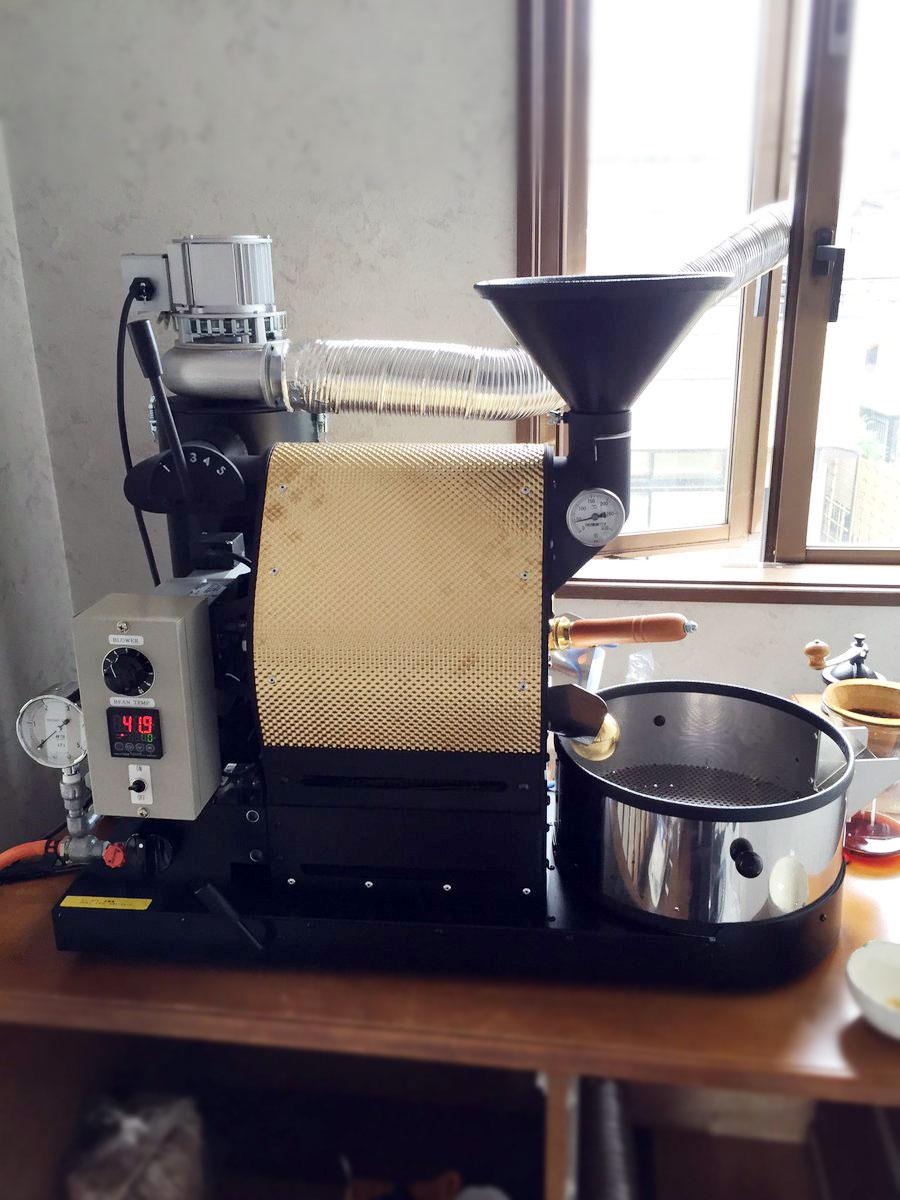 埼玉県川越市にナナハン焙煎機を設置しました。