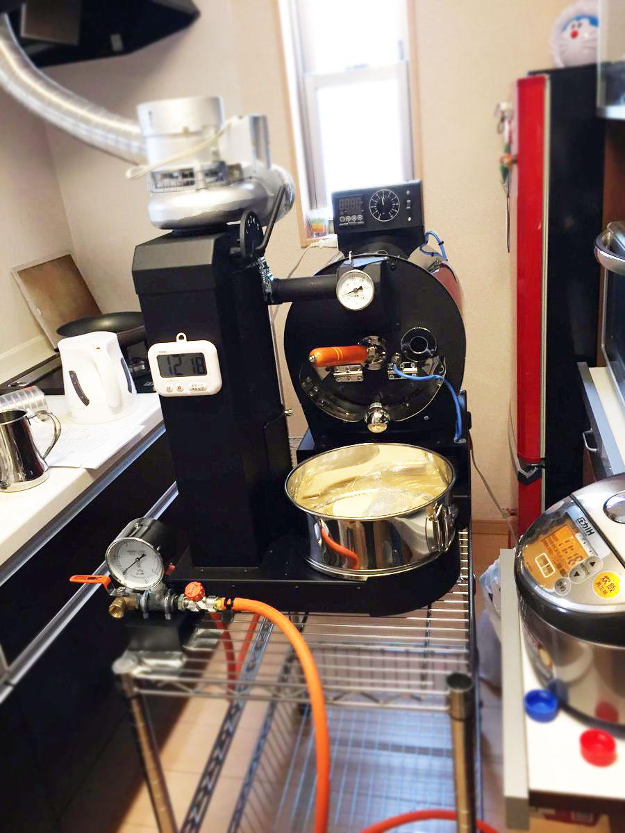 さいたま市にアポロ焙煎機を設置しました。